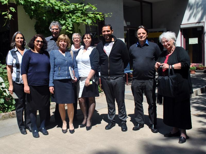 Frau Daniela Schadt, die Lebensgefährtin von Bundespräsident Joachim Gauck, besuchte am 9.Juni 2015 den Rom e.V. in Köln.