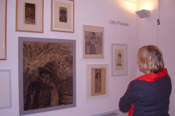 Original-Kohlezeichnungen von Otto Pankok. Leihgabe des Pankok-Museums in Hünxe.